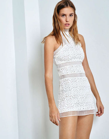 Alexis Robin Lace Dress in White