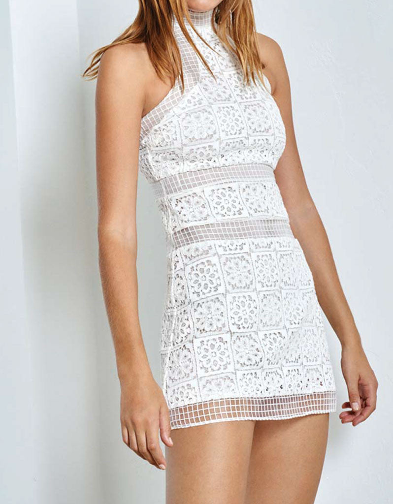 Alexis Robin Lace Dress in White - SWANK - Dresses - 2
