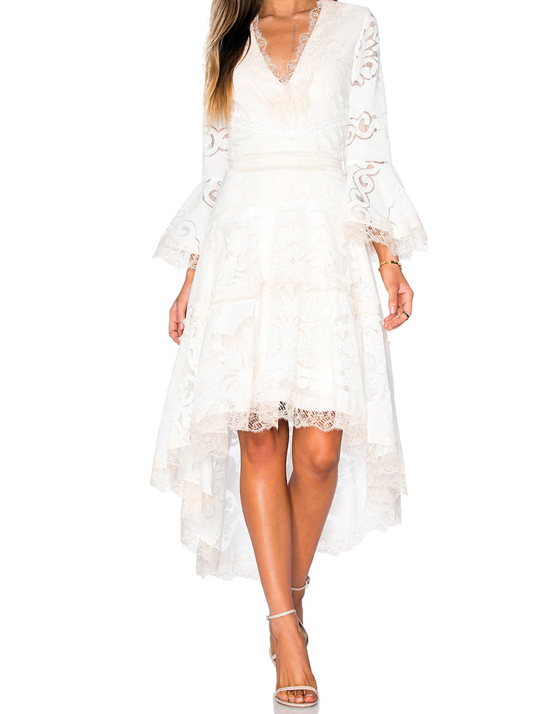 Alexis Ash Dress in Pearl White - SWANK - Dresses - 1
