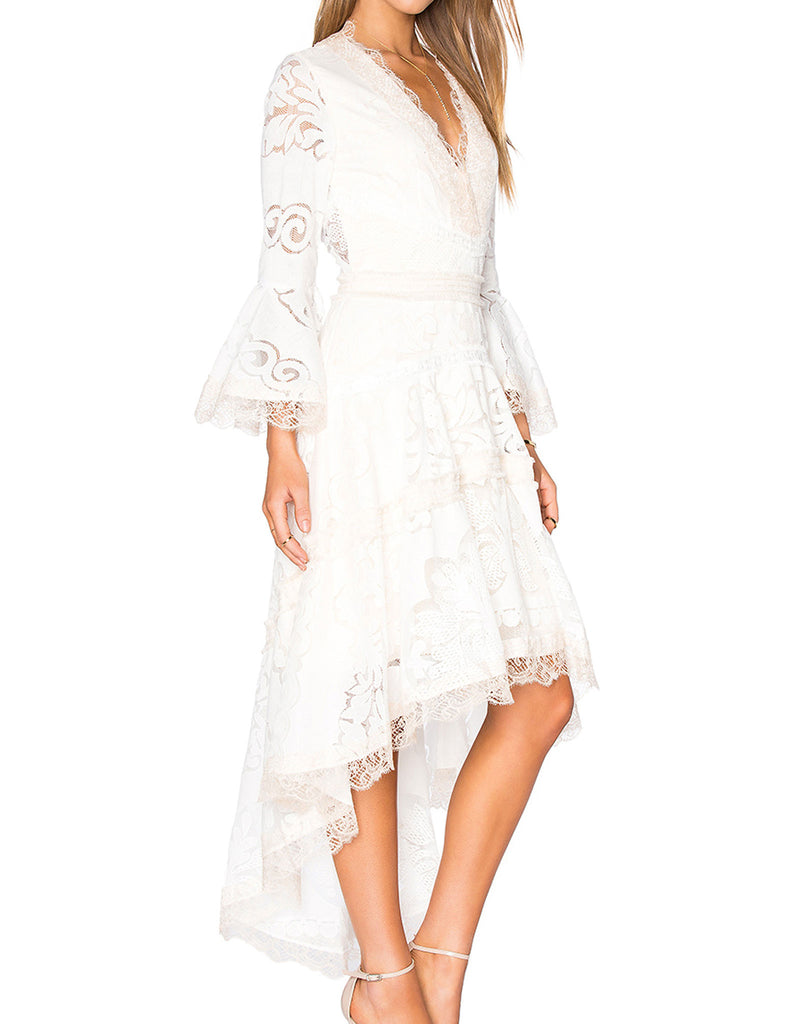 Alexis Ash Dress in Pearl White - SWANK - Dresses - 3