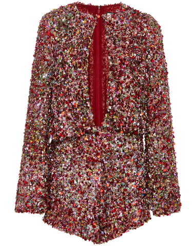 Alexis Jezebell Romper in Multicolor Sequin