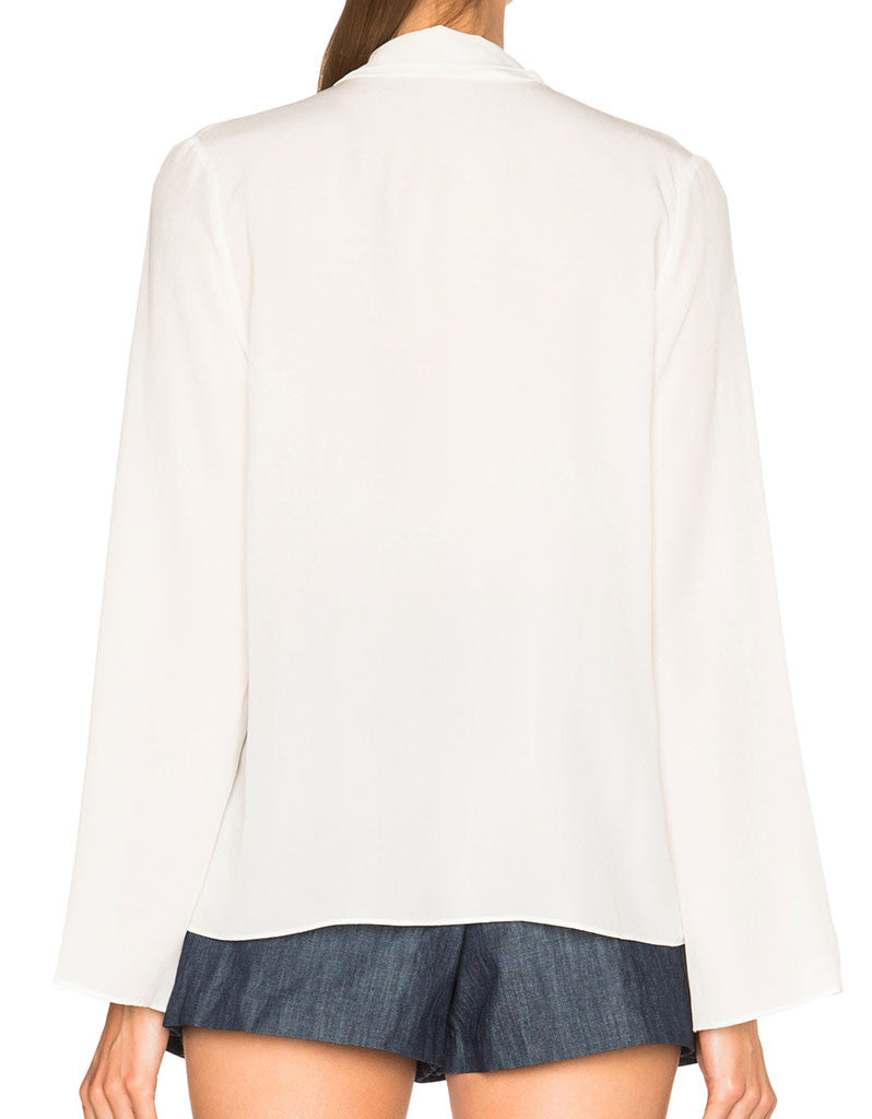 Alexis Milana Long Sleeve Blouse in White - SWANK - Tops - 2