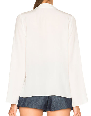 Alexis Milana Long Sleeve Blouse in White