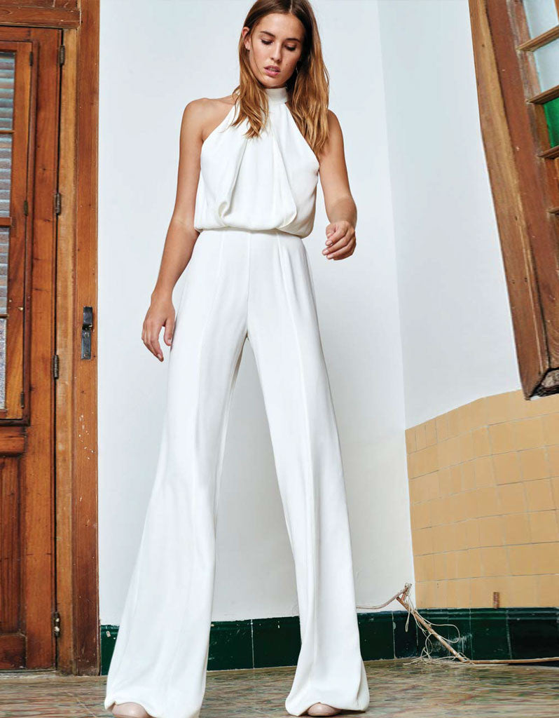 Alexis Sang Jumpsuit in Off White - SWANK - Jumpsuits - 1