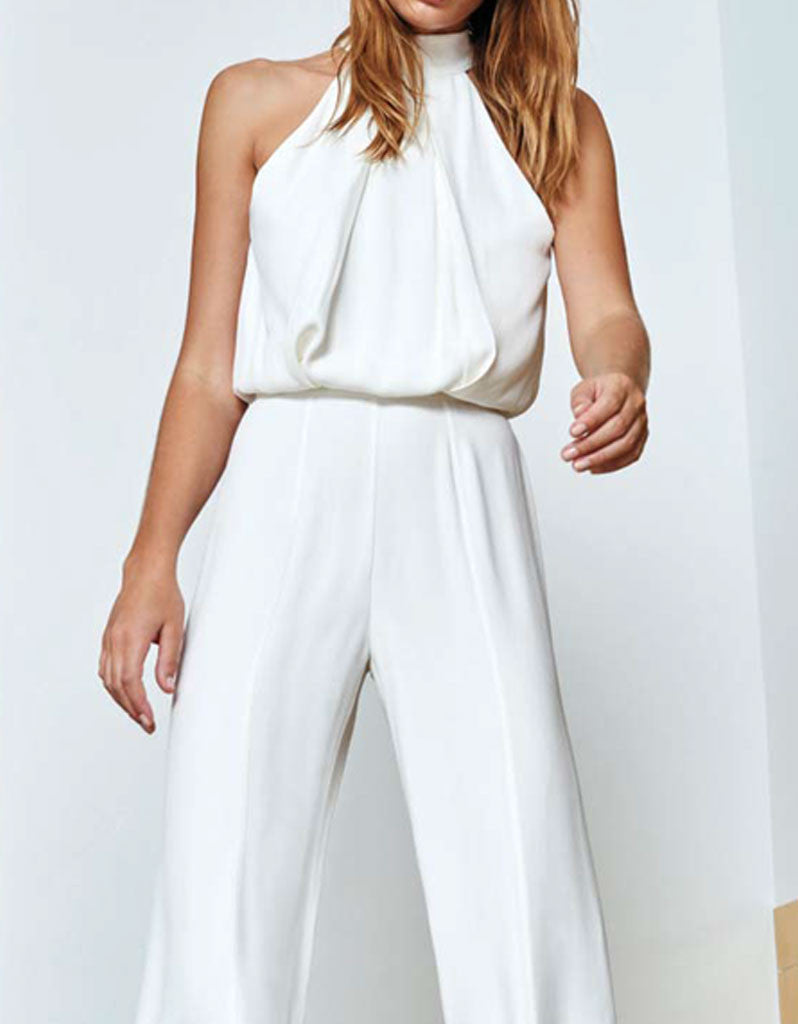 Alexis Sang Jumpsuit in Off White - SWANK - Jumpsuits - 2