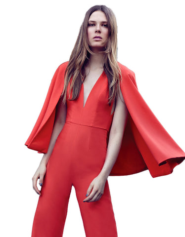 Alexis Amadeo Jumpsuit with Cape