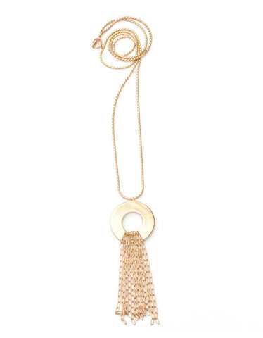 Fiona Paxton Chain Fringe Necklace in Gold