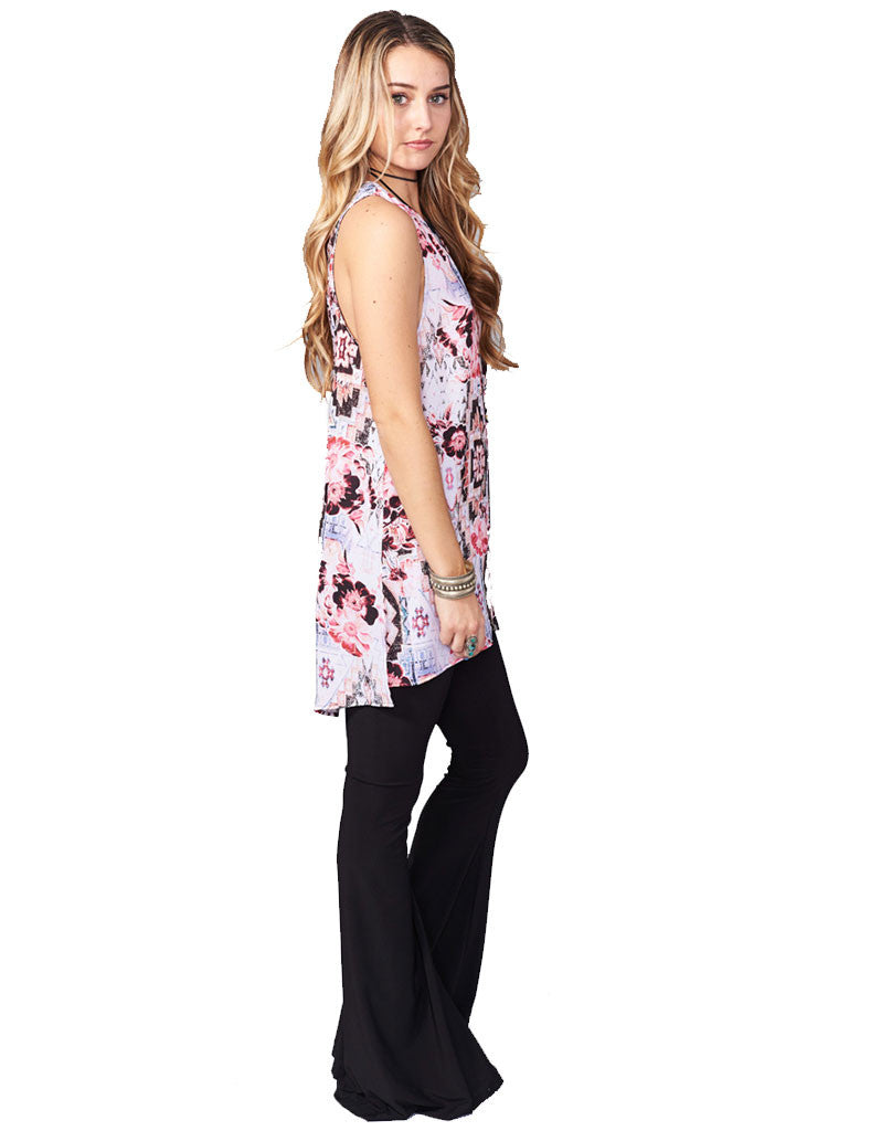 Show Me Your Mumu Bam Bam Bells in Black Spandy - SWANK - Pants - 2