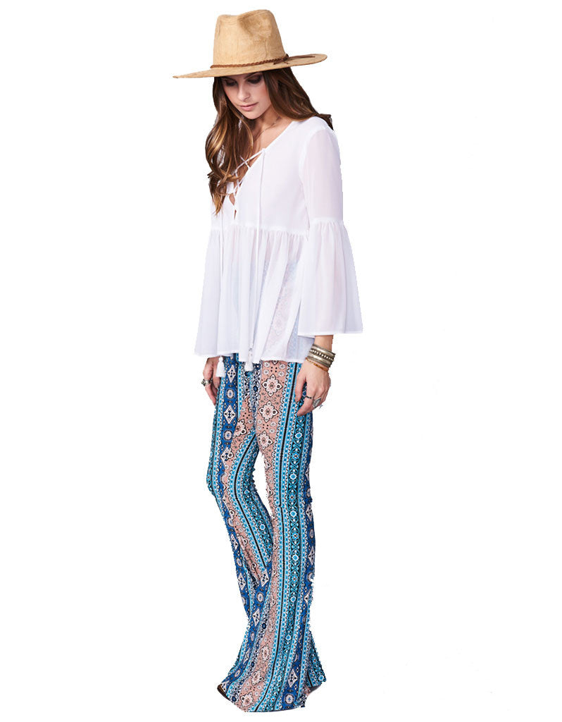 Show Me Your Mumu Bam Bam Bells in Lucky Charmer - SWANK - Pants - 2