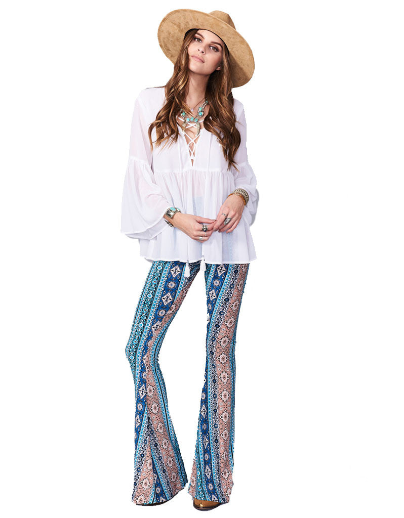 Show Me Your Mumu Bam Bam Bells in Lucky Charmer - SWANK - Pants - 1