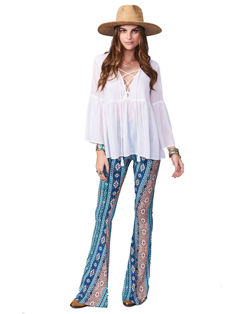 Show Me Your Mumu Bam Bam Bells in Lucky Charmer - SWANK - Pants - 4