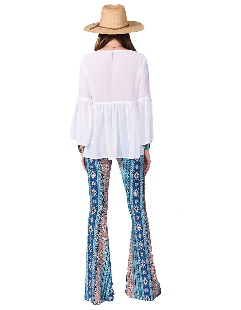 Show Me Your Mumu Bam Bam Bells in Lucky Charmer - SWANK - Pants - 3