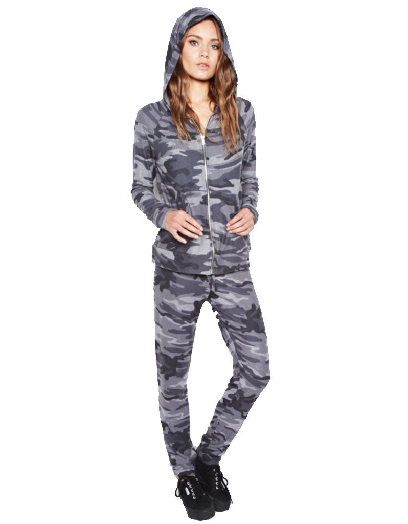 Michael Lauren Bear Sweatpant in Asphalt Camo - SWANK - Pants - 1