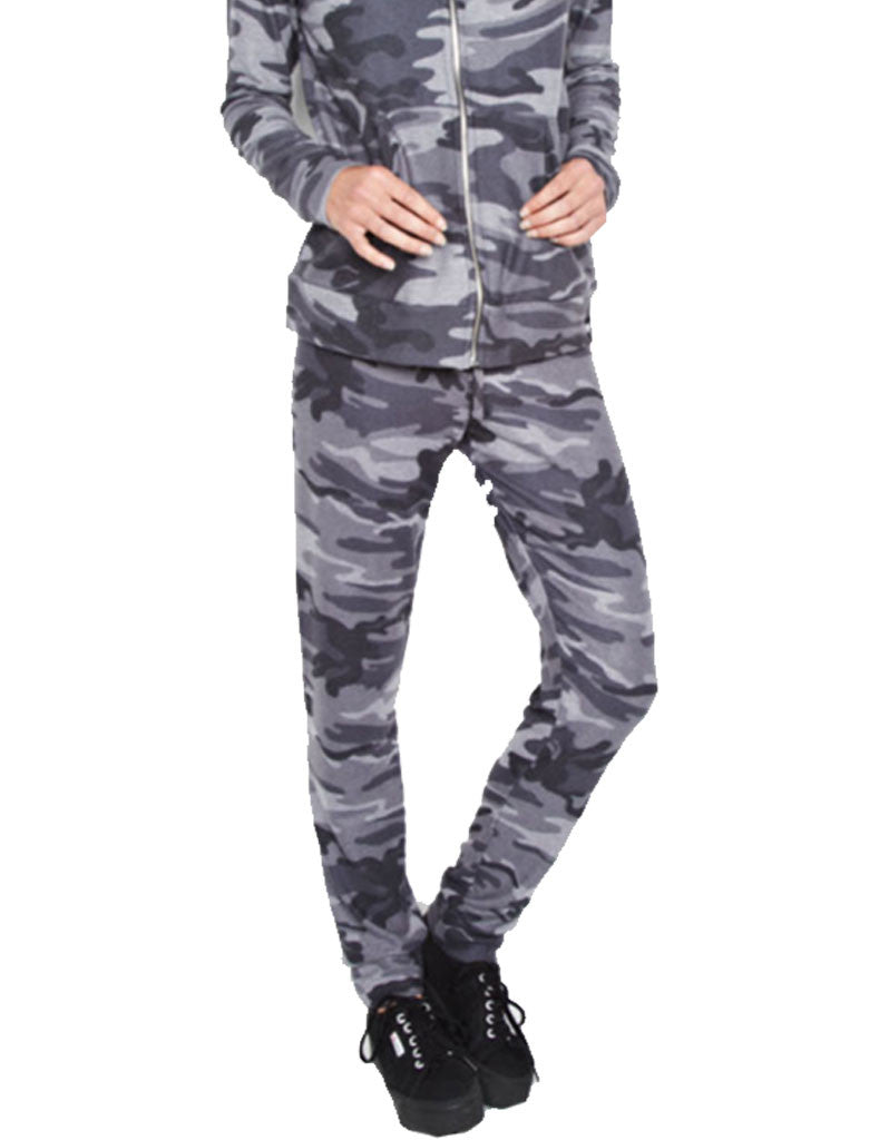 Michael Lauren Bear Sweatpant in Asphalt Camo - SWANK - Pants - 2