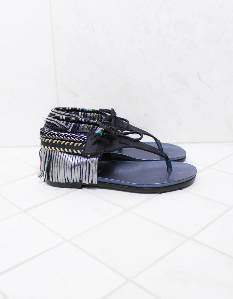 INDIE BOHO SANDALS - BLACK - SWANK - Shoes - 1