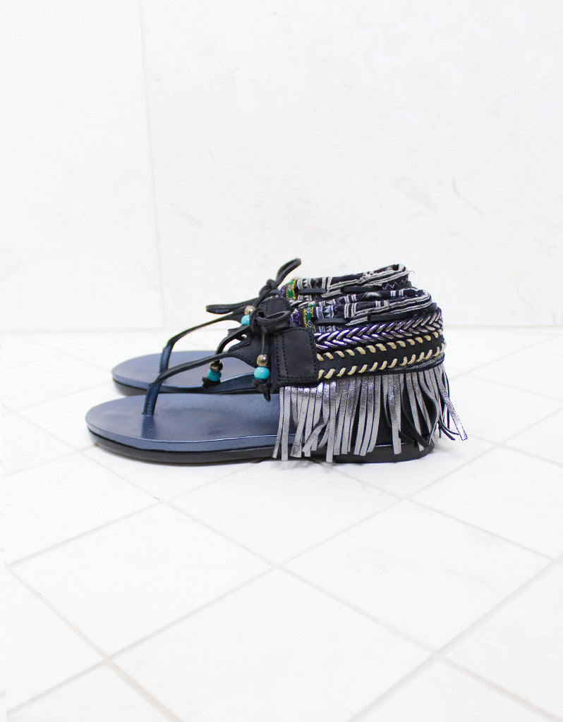 INDIE BOHO SANDALS - BLACK - SWANK - Shoes - 5