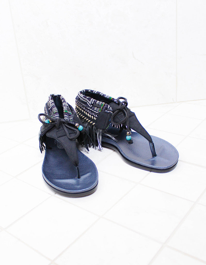 INDIE BOHO SANDALS - BLACK - SWANK - Shoes - 6