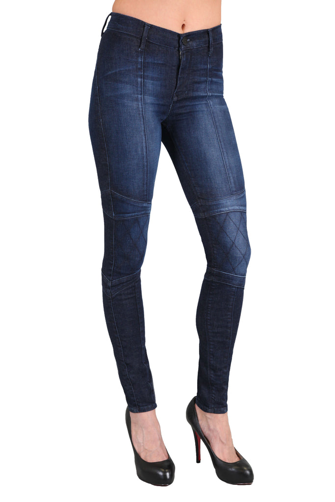 Black Orchid Motorcycle Jegging in Russian Navy - SWANK - Pants - 1