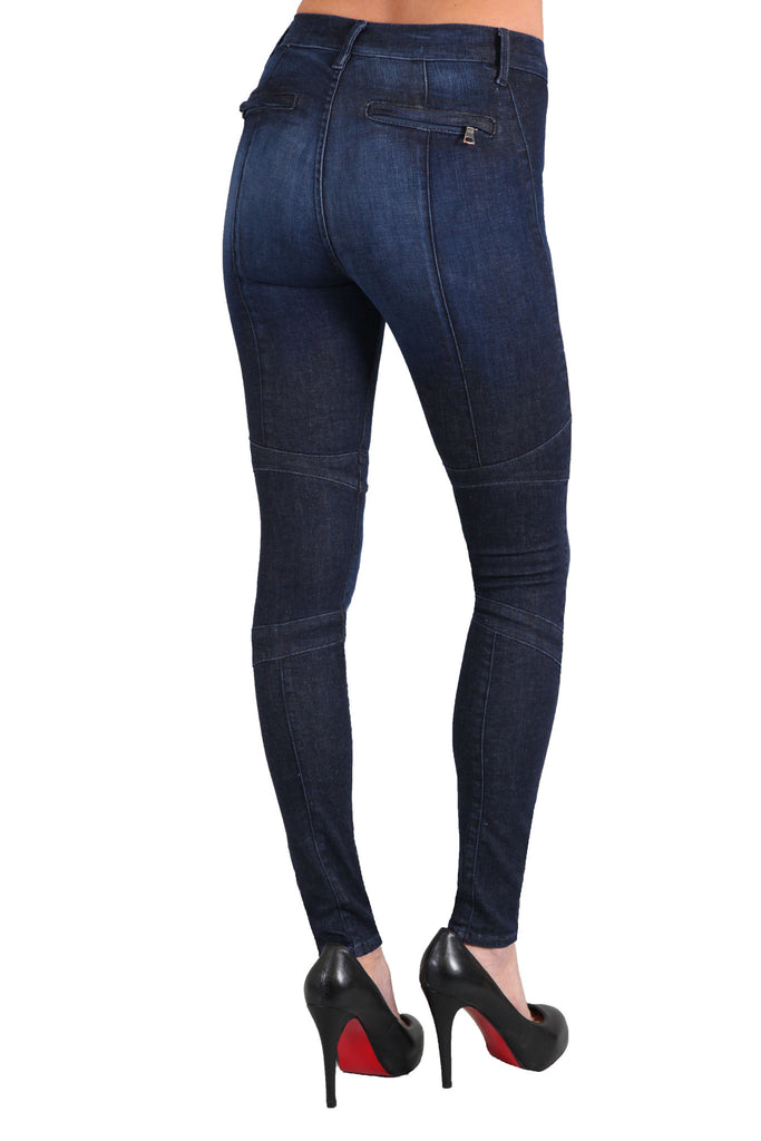 Black Orchid Motorcycle Jegging in Russian Navy - SWANK - Pants - 2