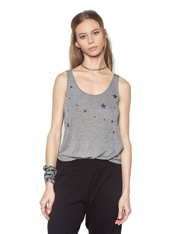 Michael Lauren Brock Classic Tank w/Stars in Heather Grey