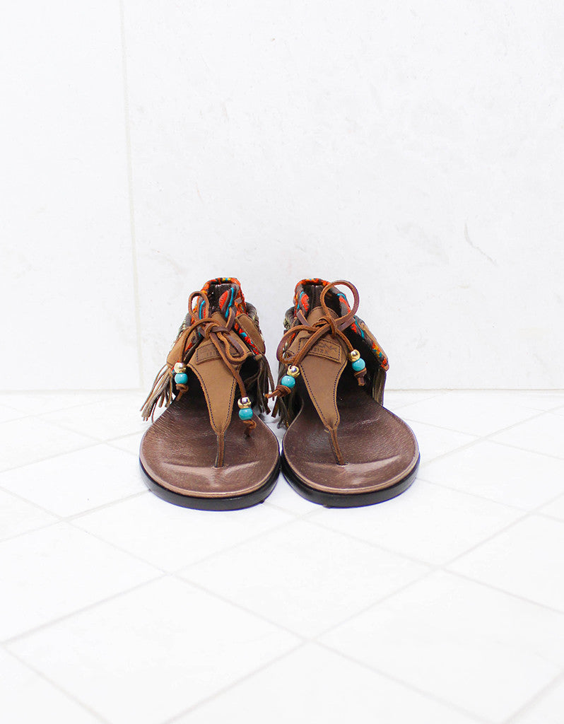 INDIE BOHO SANDALS - BROWN - SWANK - Shoes - 3