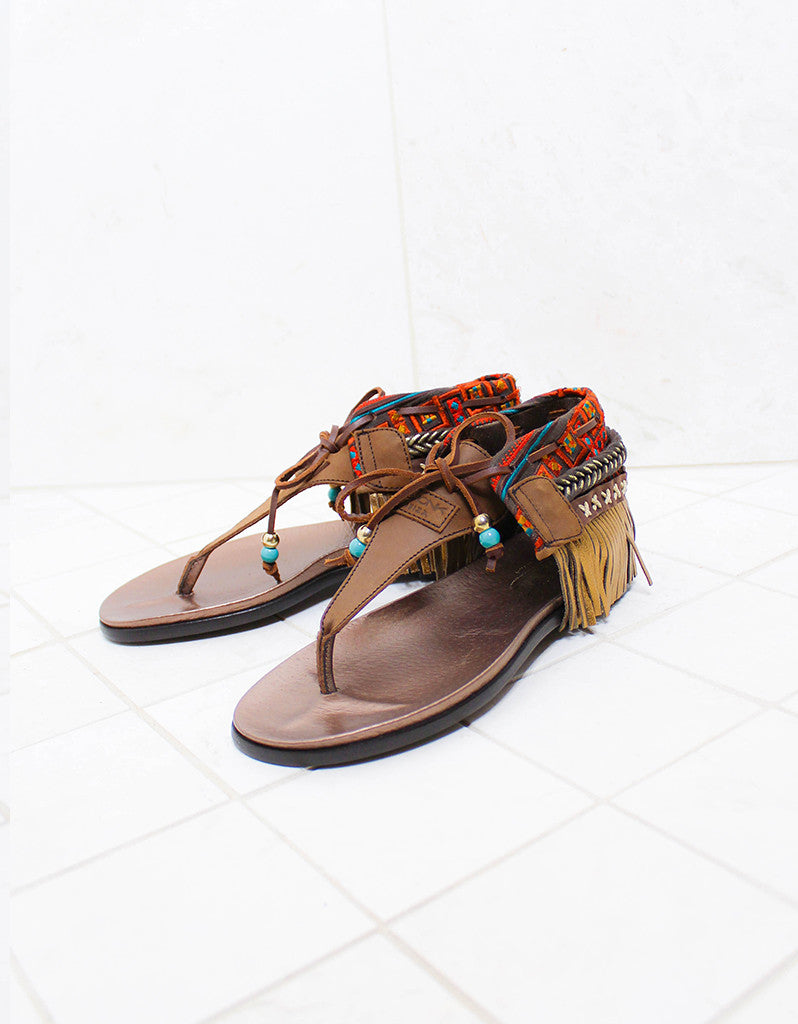 INDIE BOHO SANDALS - BROWN - SWANK - Shoes - 2