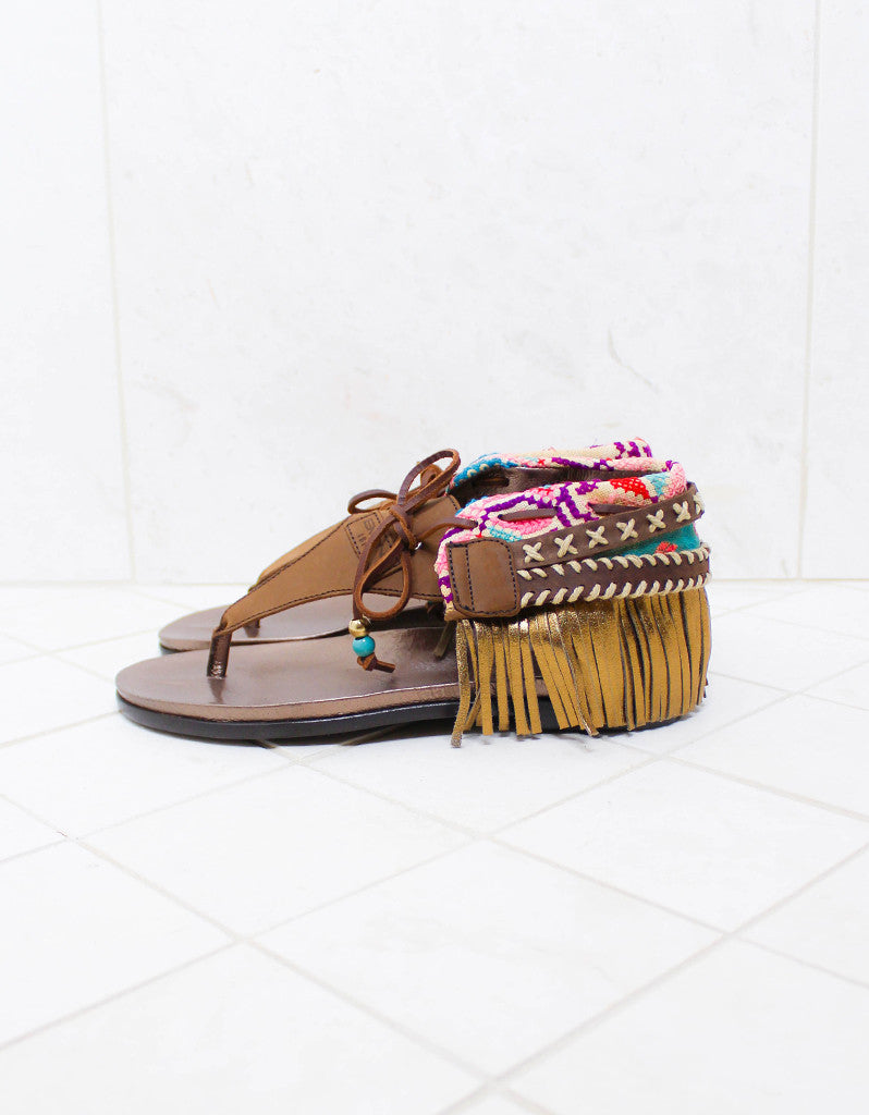 INDIE BOHO SANDALS - BROWN - SWANK - Shoes - 7
