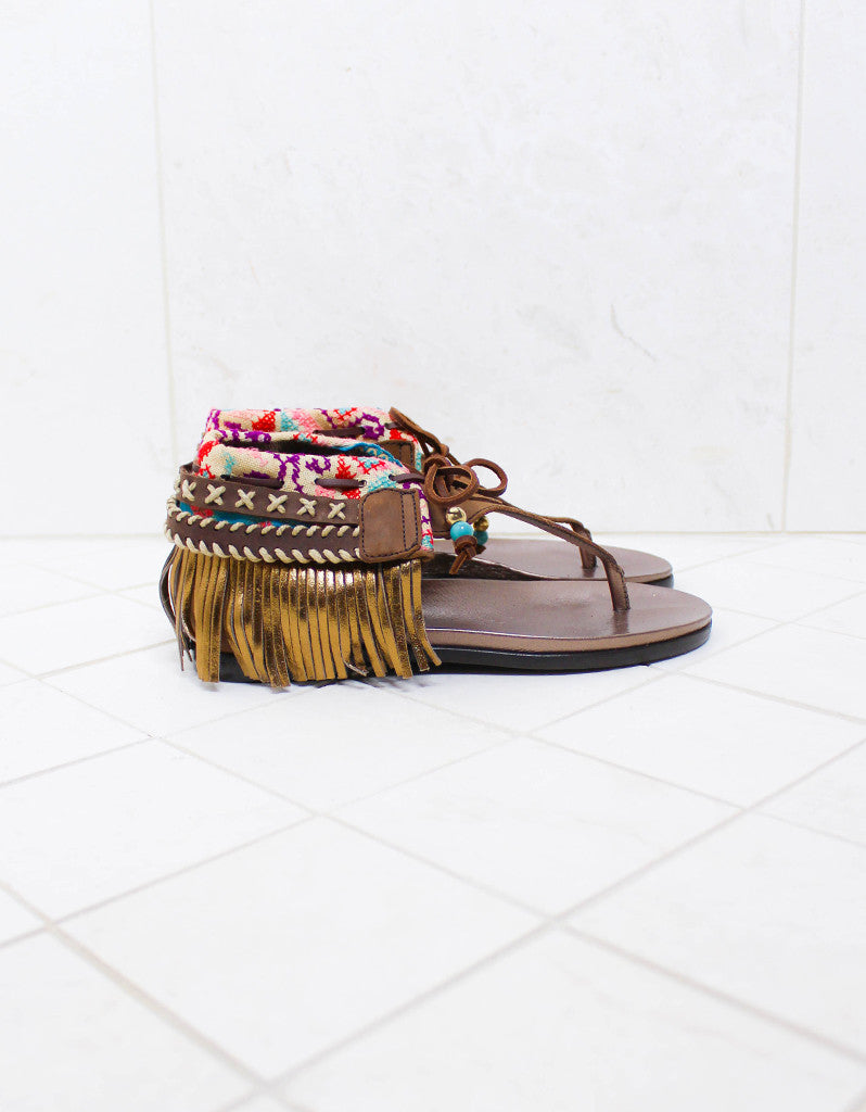 INDIE BOHO SANDALS - BROWN - SWANK - Shoes - 8