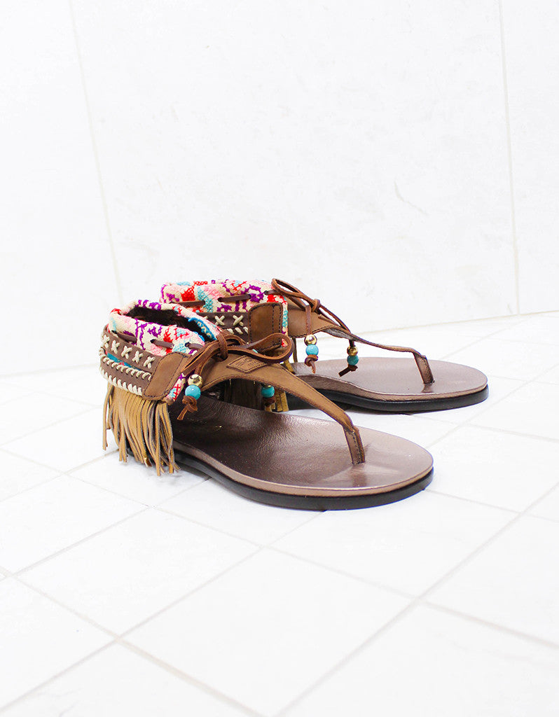 INDIE BOHO SANDALS - BROWN - SWANK - Shoes - 9