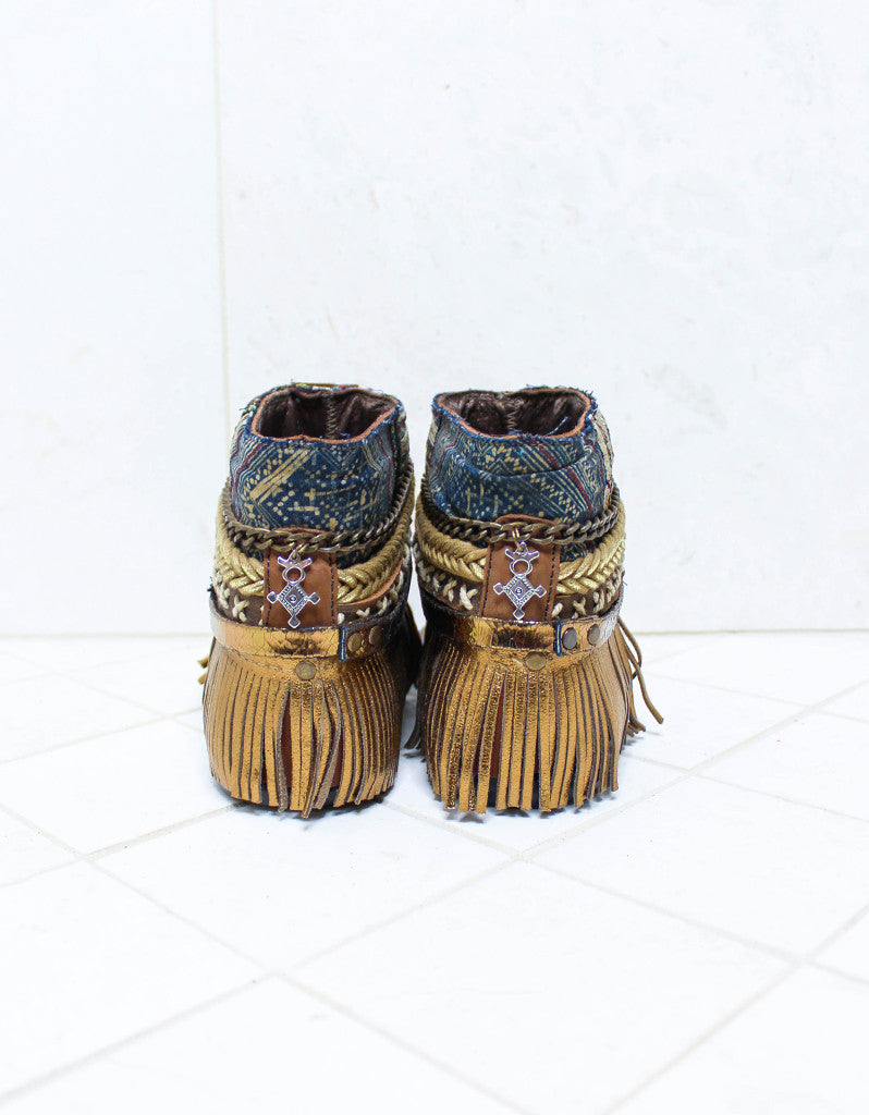 Custom Made Boho Sandals in Brown | SIZE 38 - SWANK - Shoes - 5