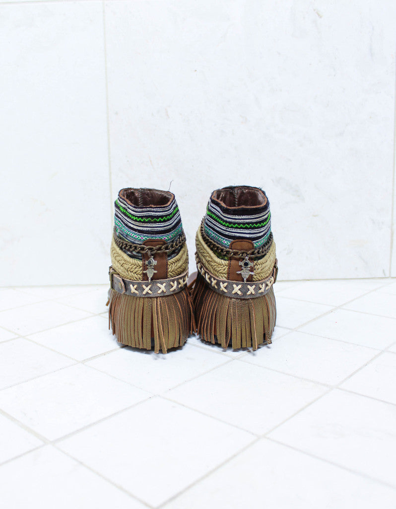 Custom Made Boho Sandals in Brown | SIZE 40 - SWANK - Shoes - 5