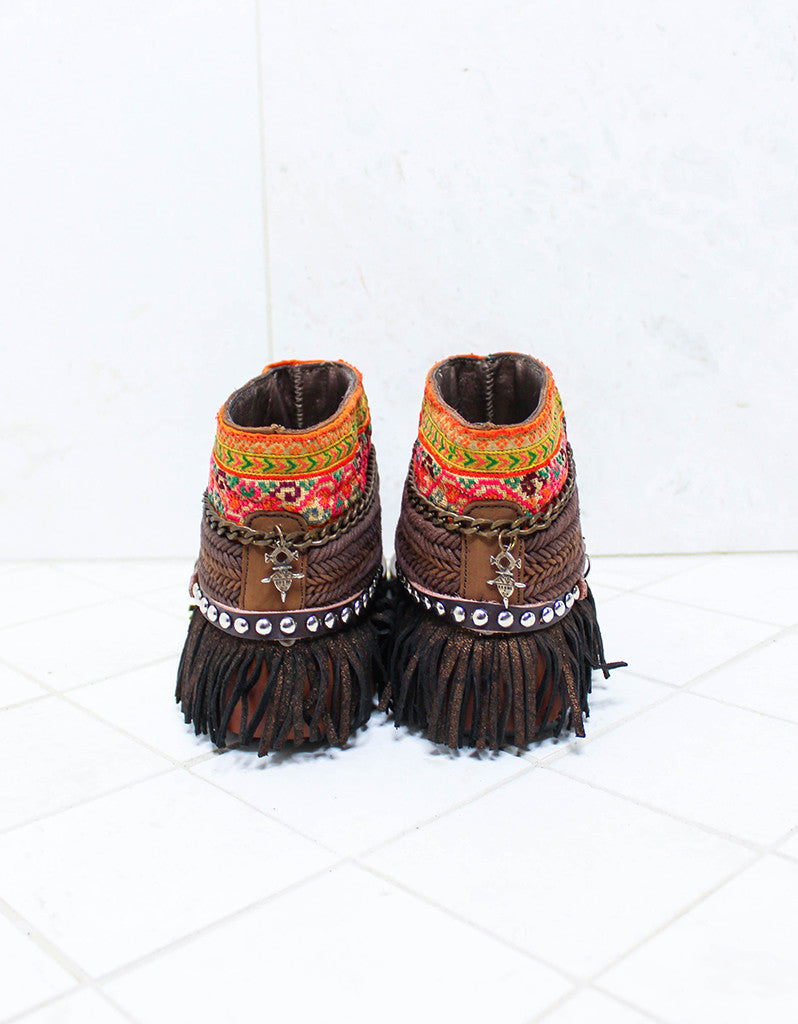 Custom Made Boho Sandals in Brown | SIZE 41 - SWANK - Shoes - 5