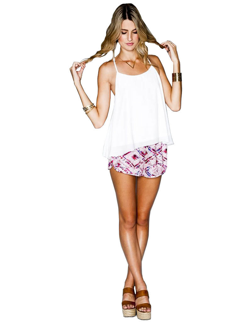 Show Me Your Mumu Buoy Boxer Short in Abrias Pink Diamond - SWANK - Shorts