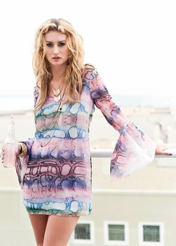 Show Me Your MuMu Bachelorette Dress in Rainbow Python