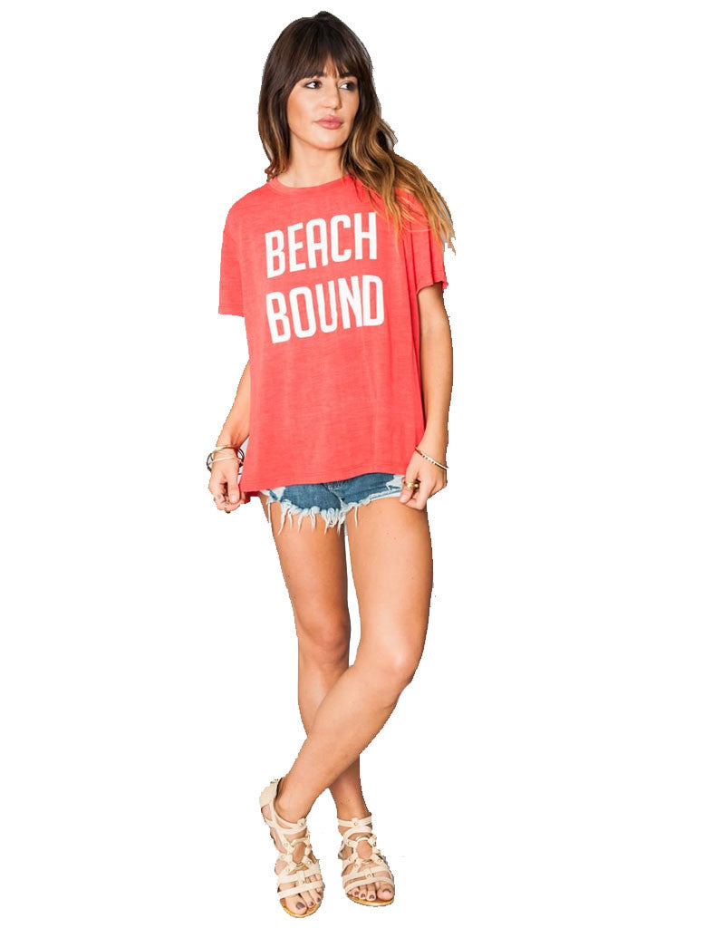Show Me Your Mumu Coalson Tee Beach Bound - SWANK - Tops - 1