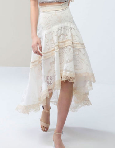 Alexis Belle Skirt in Pearl White