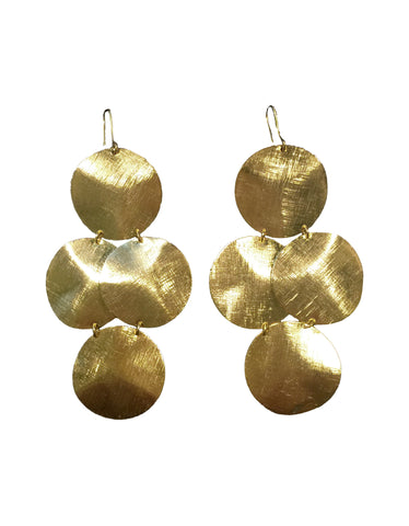 Emily Big Disc Earring in Gold **An Emily Dees Boulden Design**