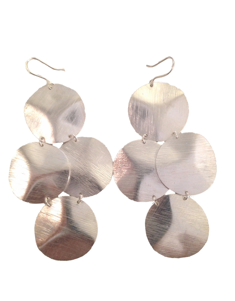 Emily Big Disc Earring in Silver **An Emily Dees Boulden Design** - SWANK - Jewelry - 2