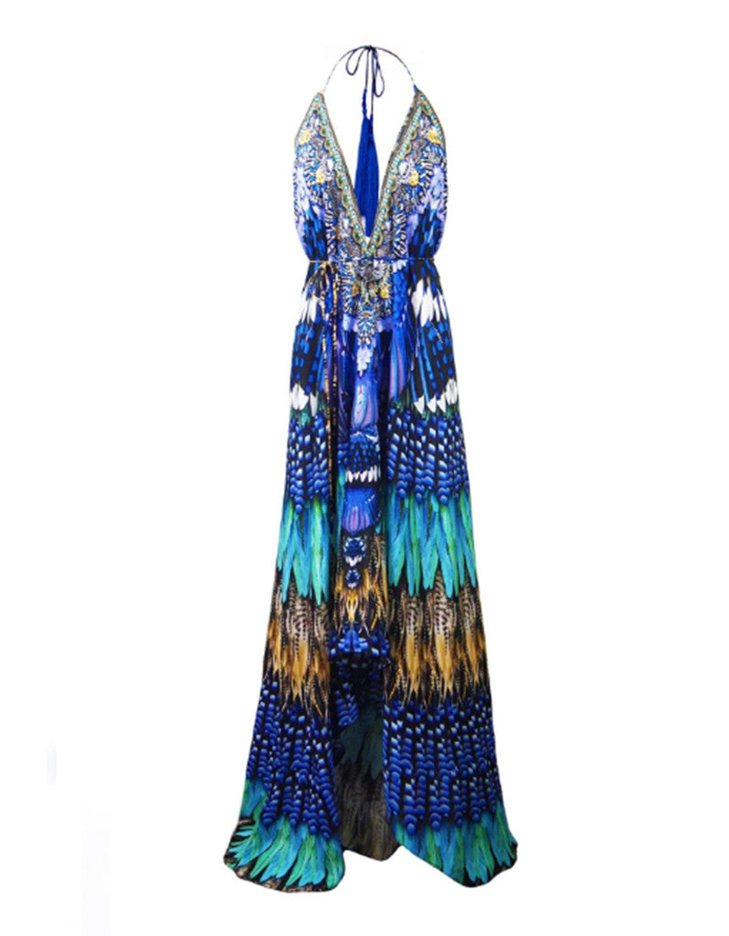 Shahida Parides Blue Jay 3-Way Style Dress in Blue - SWANK - Dresses - 8