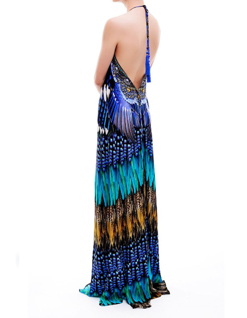 Shahida Parides Blue Jay 3-Way Style Dress in Blue - SWANK - Dresses - 6
