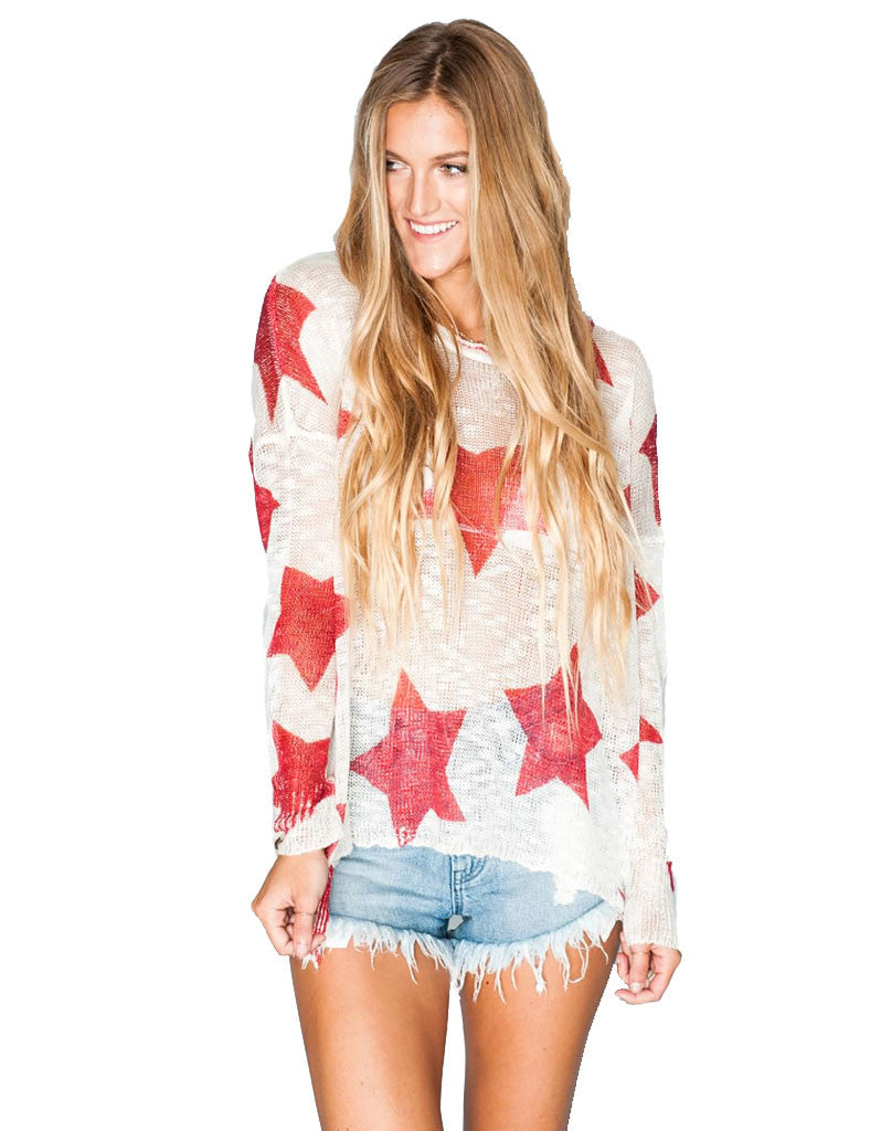Show Me Your Mumu Bonfire Sweater in Stars - SWANK - Tops - 1