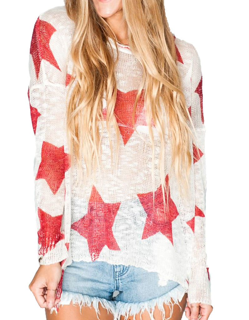Show Me Your Mumu Bonfire Sweater in Stars - SWANK - Tops - 2