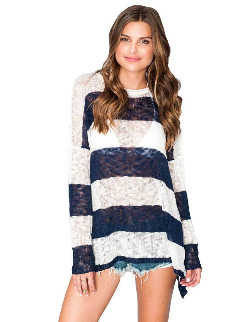 Show Me Your Mumu Bonfire Sweater in Stripes - SWANK - Tops - 1