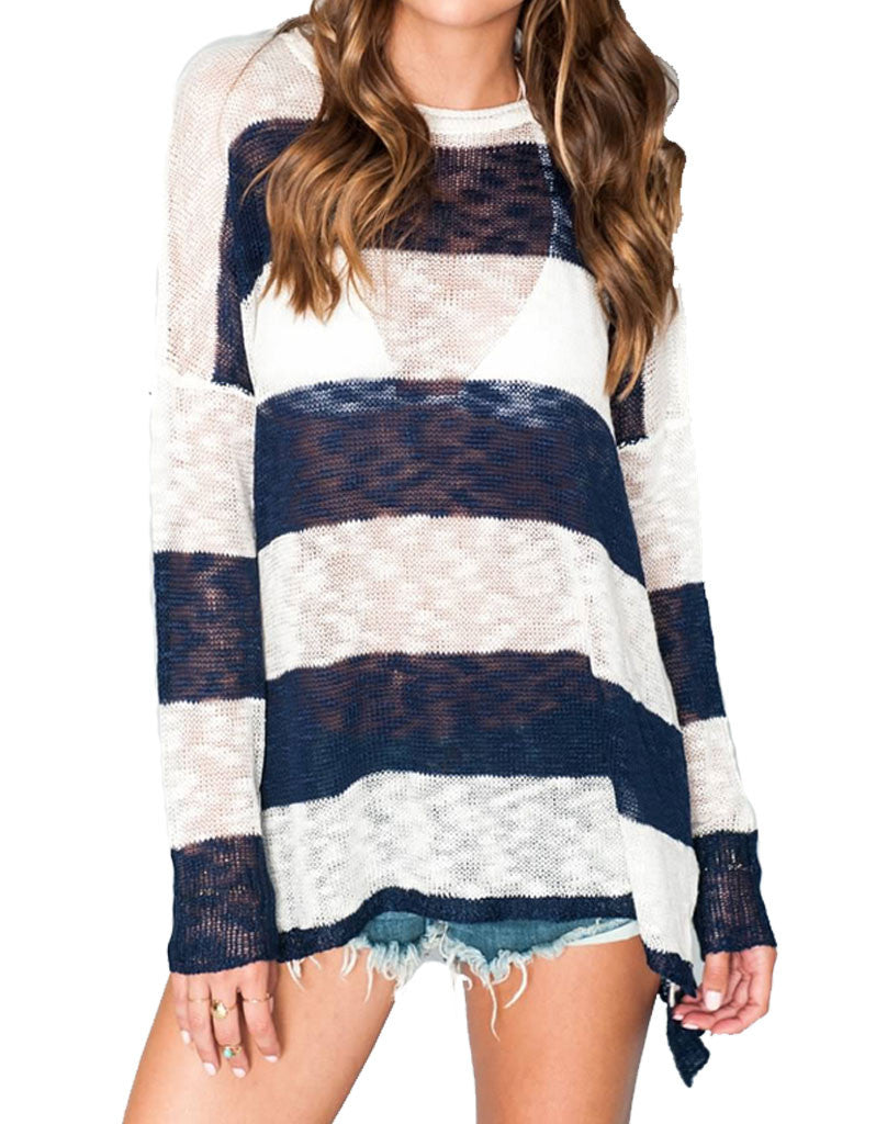 Show Me Your Mumu Bonfire Sweater in Stripes - SWANK - Tops - 2
