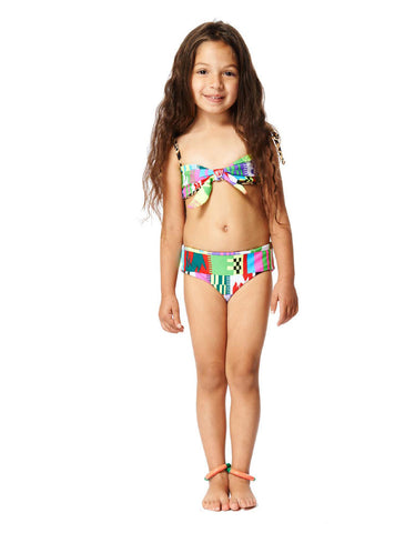 Mara Hoffman Kids Reversible Bow Bikini in Belts