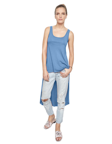 Michael Lauren Bradshaw High Low Tank in Star Blue