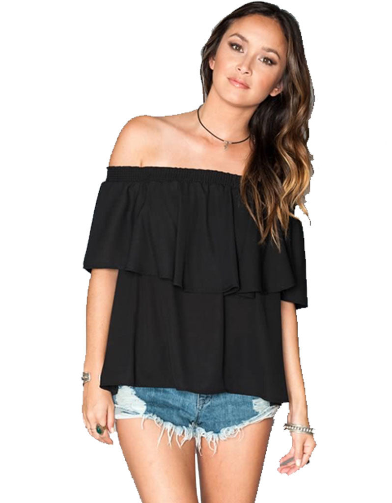 Show Me Your Mumu Bungalow Top in Black Crisp - SWANK - Tops - 2