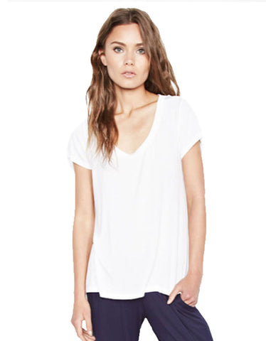 Michael Lauren Buzz Scoop Neck High Low Tee