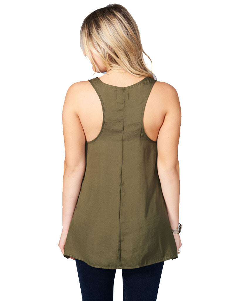 Show Me Your Mumu Cara-Van Top in Olive Silky Satin - SWANK - Tops - 3