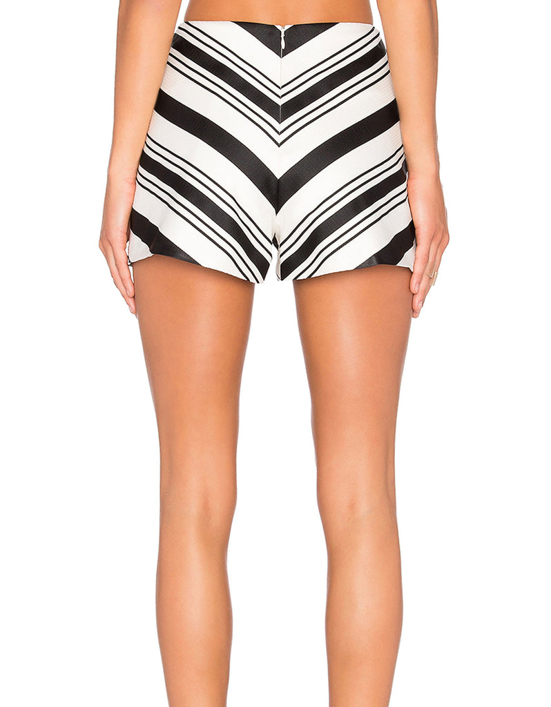 Alexis Carrie Shorts in Black/White - SWANK - Shorts - 3